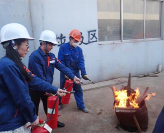 凯能锅炉防火演练